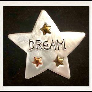 VINTAGE Dream Star Stainless Steel Brooch